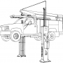 Mohawk's 2 post jack line drawing