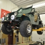 Mohawk 2 post auto lift shown at home shop