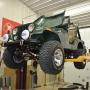 Mohawk 2 post auto lift shown at home shop