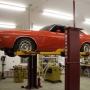 Mohawk auto lift shown with wheel adaptors