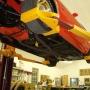 Mohawk car lift shown with wheel adaptors