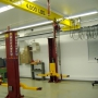Mohawk hoist shown installed with low ceiling