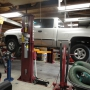 Mohawk garage lift shown installed with low ceiling