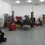 Mohawk two post car lift at SEMA garage