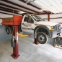 LC-12 Two Post Lift - White Truck