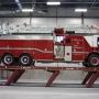 Mohawk flush mount parallelogram fire truck lift