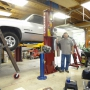 Mohawk auto lift shown installed with low ceiling